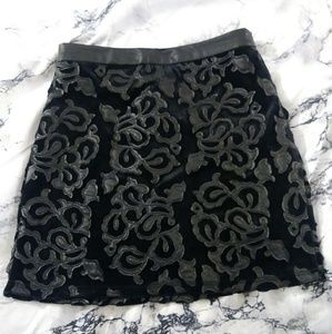 Beautiful faux leather and suede mini skirt